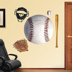Assorted Baseball Graphics Fathead Wall Decal